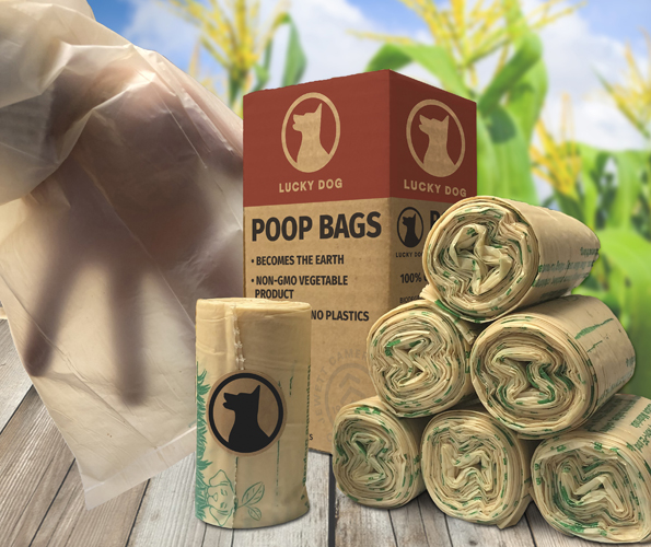 Lucky Dog Zero Plastic Leakproof Poop Bags - 20 Roll