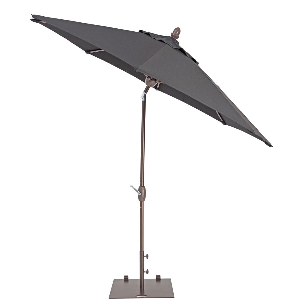 TrueShade Plus 9' Market Umbrella with Auto Tilt and Crank Black