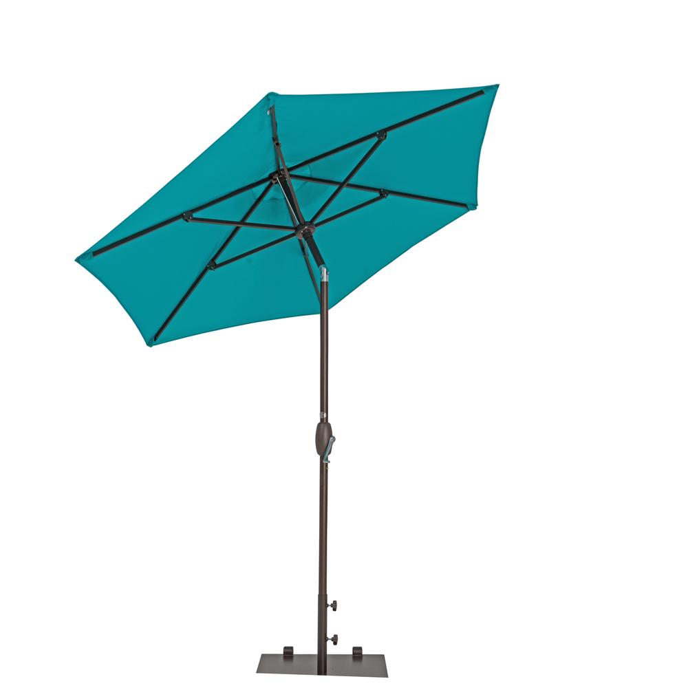 TrueShade Plus 7' Garden Parasol with Push Button Tilt and Crank Aruba