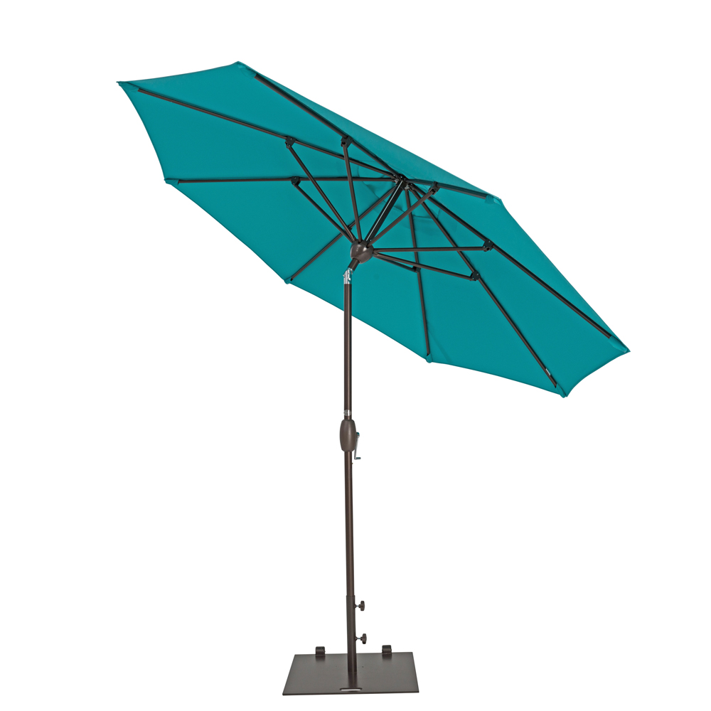 TrueShade Plus 9' Market Umbrella with Push Button Tilt Aruba