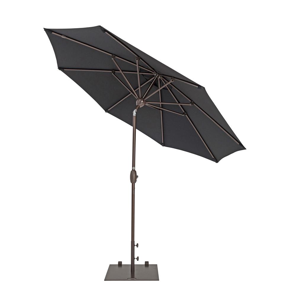TrueShade Plus 9' Market Umbrella with Push Button Tilt Black