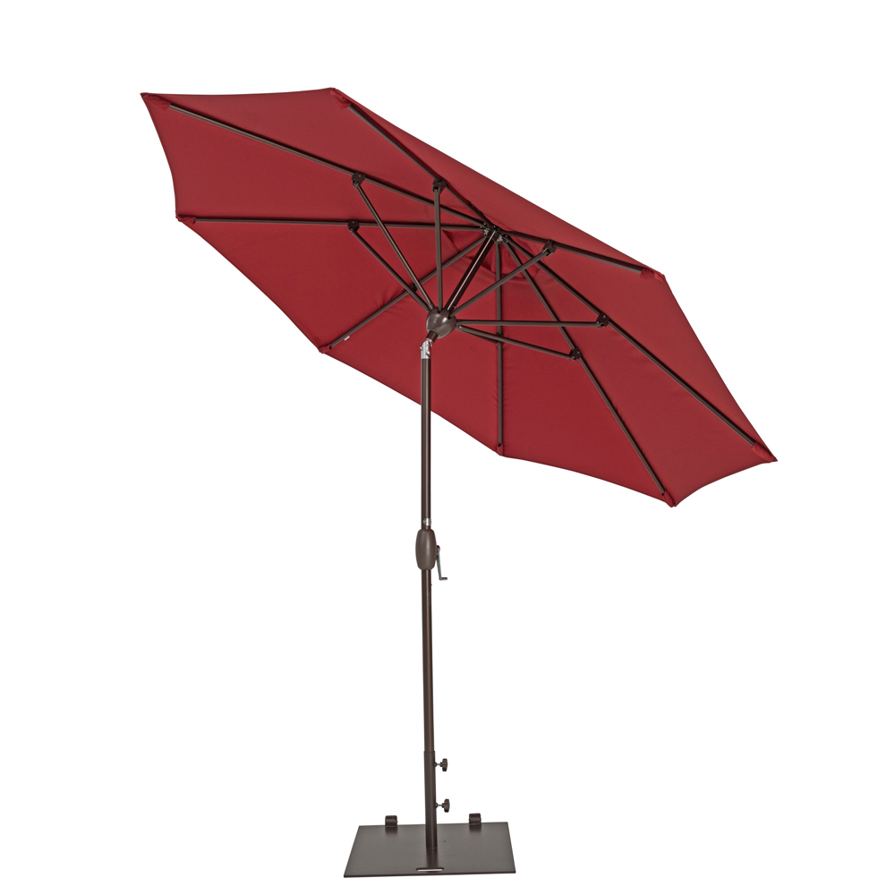 TrueShade Plus 9' Market Umbrella with Push Button Tilt Jockey Red