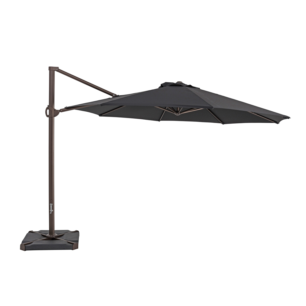 TrueShade Plus 11.5' Cantilever Round Umbrella Black
