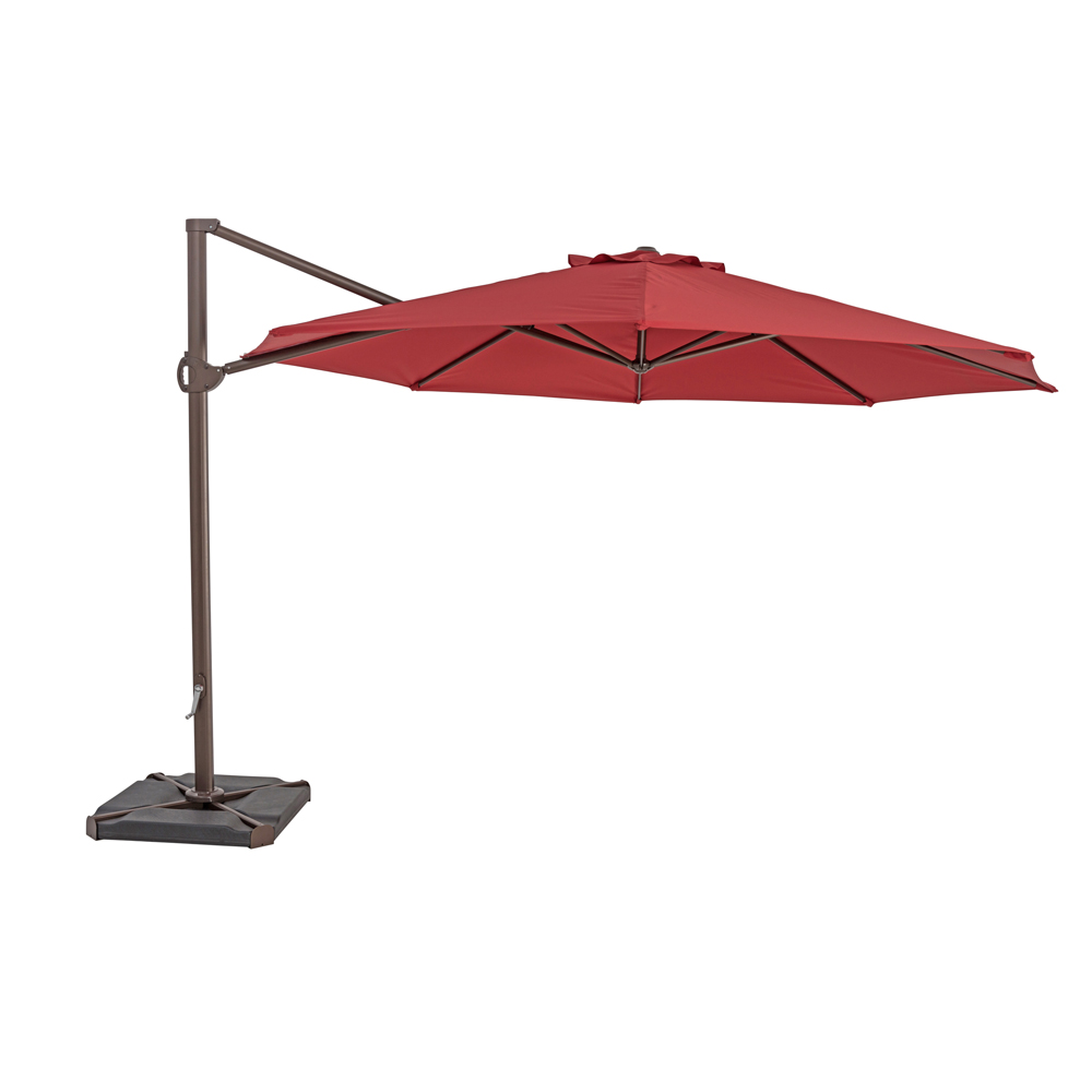 TrueShade Plus 11.5' Cantilever Round Umbrella Jockey Red