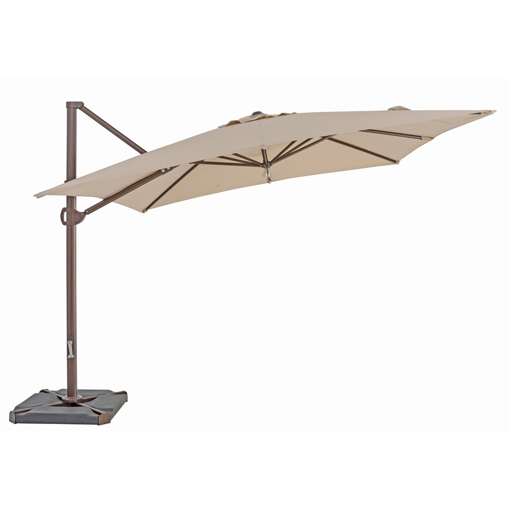 TrueShade Plus 10' x 10' Cantilever Square Umbrella Antique Beige