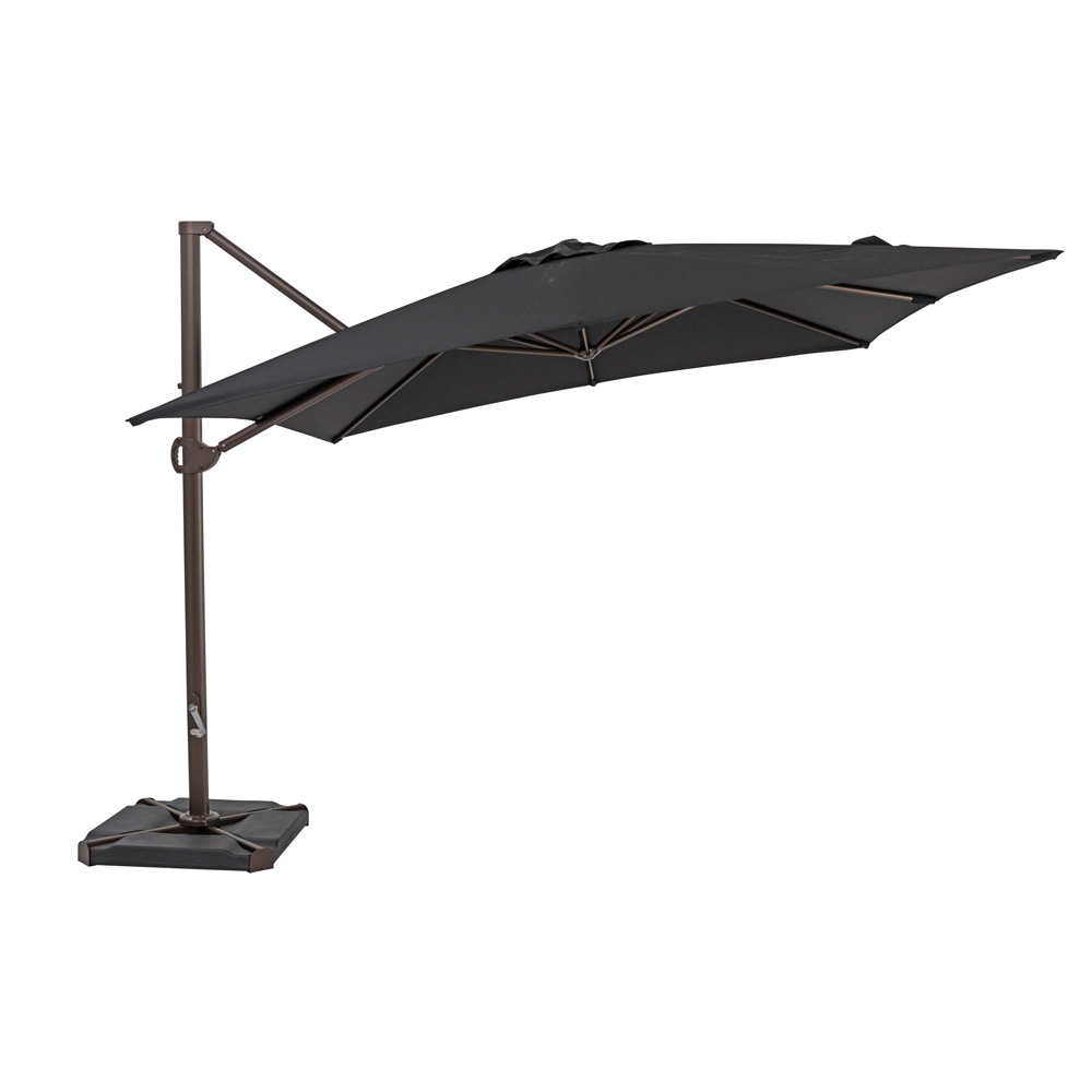 TrueShade Plus 10' x 10' Cantilever Square Umbrella Black