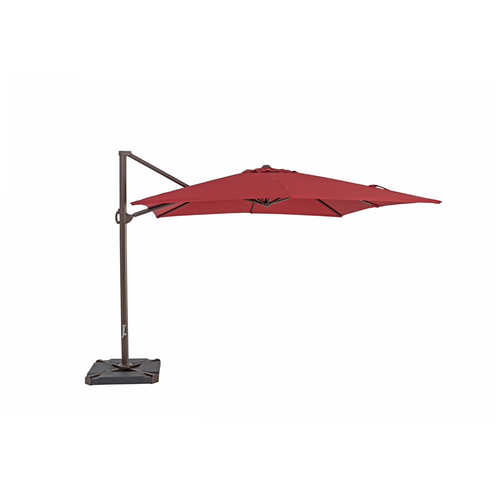 TrueShade Plus 10' x 10' Cantilever Square Umbrella Jockey Red