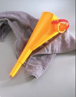 Justrite+ Yellow Polypropylene I'm Easy Poly Funnel For Type I Safety Cans 1 Gallon And Above
