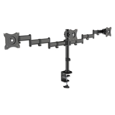 "Monitor Arms, For Monitors 13"" to 27"", up to 18 lbs., Triple, Desk Mount"