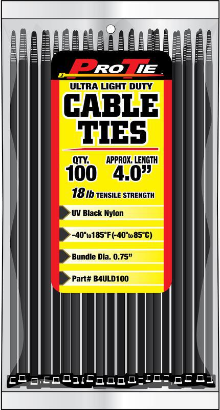 B4ULD100 4 IN. 100PK CABLE TIES