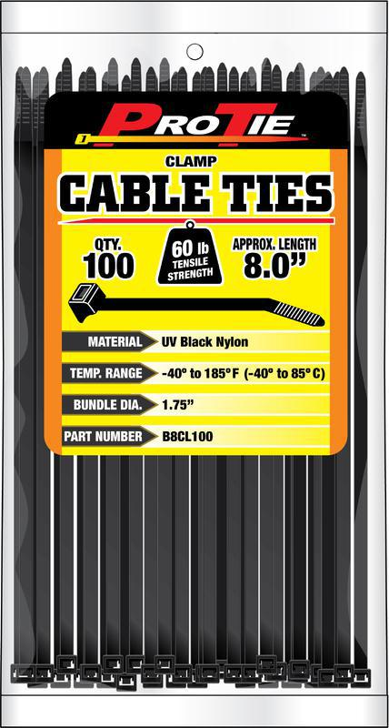 B8CL100 8 IN. 100PK CABLE TIES