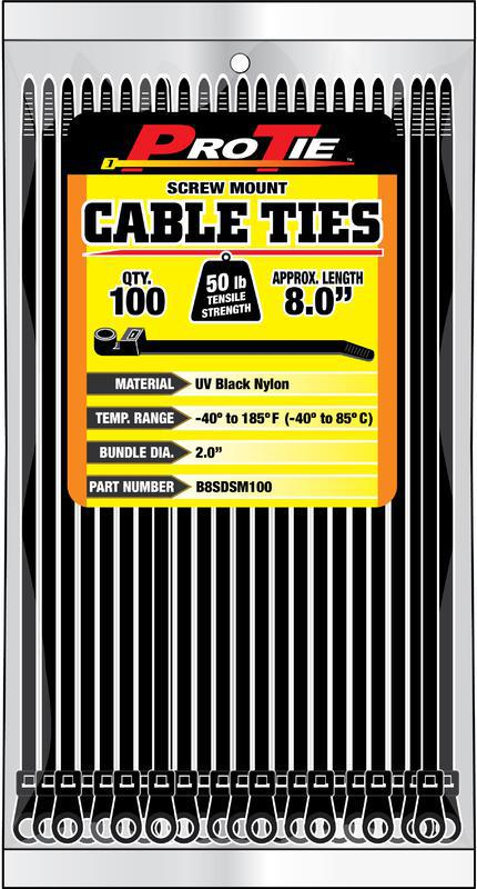 B8SDSM100 8 IN. 100PK CABLE TIES