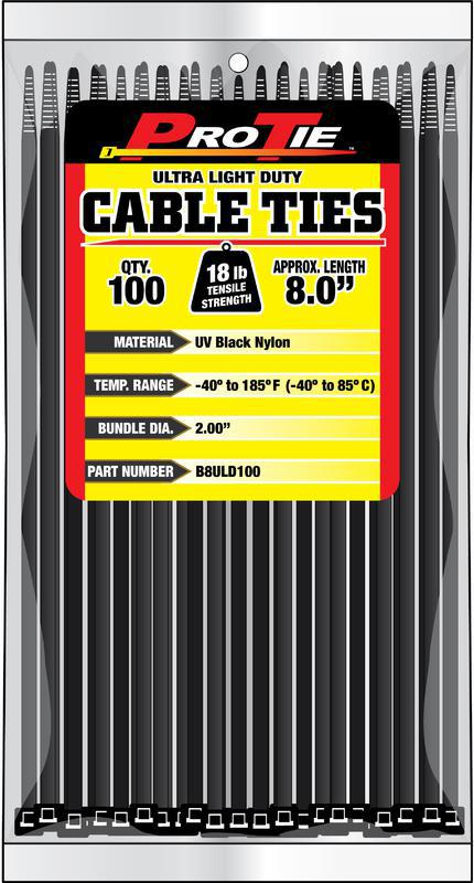 B8ULD100 8 IN. 100PK CABLE TIES