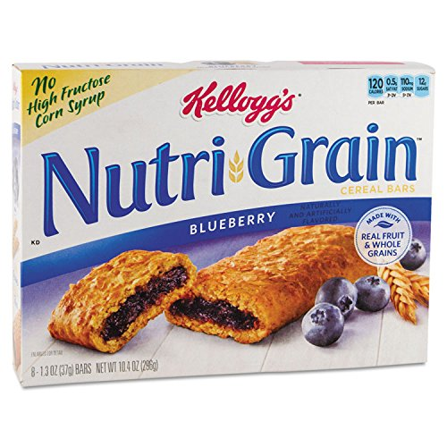 Nutri-Grain Cereal Bars, Blueberry, Indv Wrapped 1.3oz Bar, 16/Box