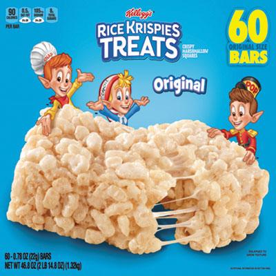 Rice Krispies Treats, Original Marshmallow, 0.78oz Pack, 60 Per Carton