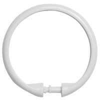 SHOWER RING SMOOTH WHITE