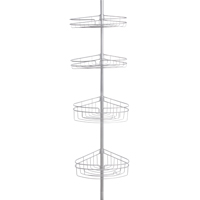 CADDY 4-TIER POLE STN NKL