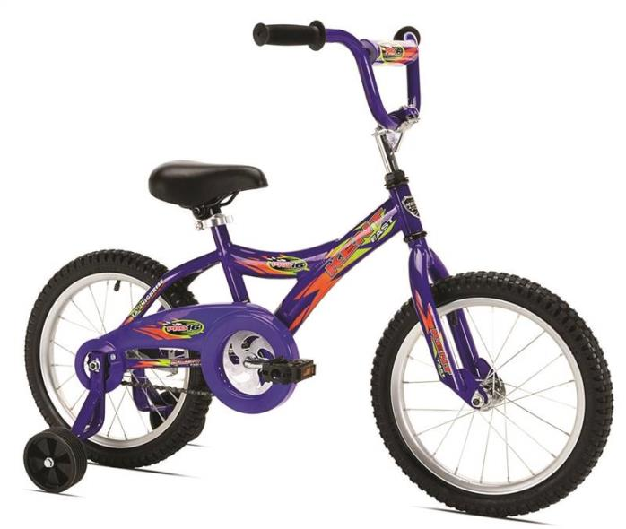 Kent Pro Kids Bicycle With Training Wheels, 16 in Front, 16 in Rear, Steel Frame