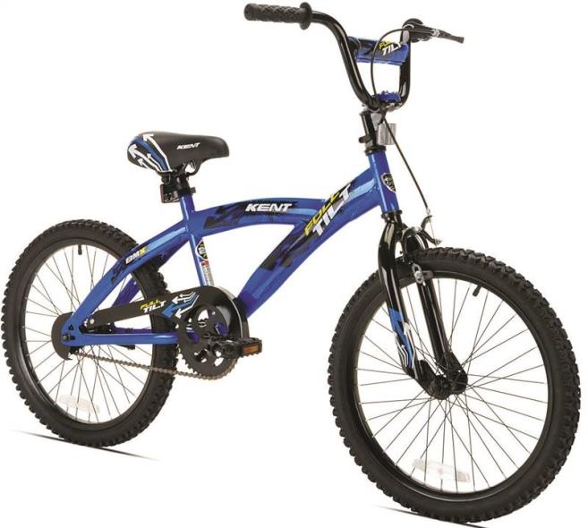 Kent Full Tilt Kids Bicycle, 20 in Front, 20 in Rear, Steel Frame, Blue/Black