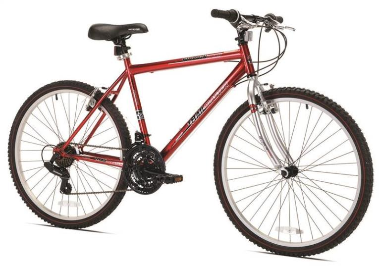 Kent Shogun Trail Blaster Sport Bicycle, 26 in Front, 26 in Rear, Steel Frame, Terrain Red/White