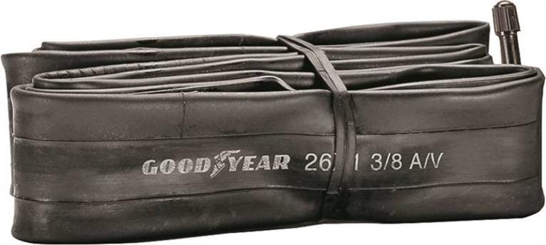 Goodyear 91080 Bicycle Tube, For Use With 26 x 1-3/8 in Width Bicycle Tires, Butyl Rubber, Black