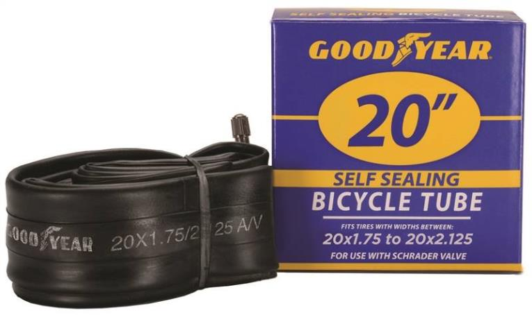 Goodyear 91085 Self-Sealing Bicycle Tube, For Use With 20 in x 1-3/4 - 2-1/8 in Width Bicycle Tires