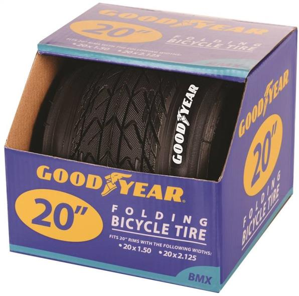 Goodyear 91055 Folding BMX Tire, For Use With 20 in x 1-1/2 - 2-1/8 in Rim, Black