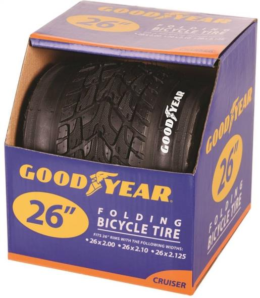 Goodyear 91060 Folding Cruiser Tire, For Use With 24 in x 2 - 2.10 - 2-1/8 in Rim, Black