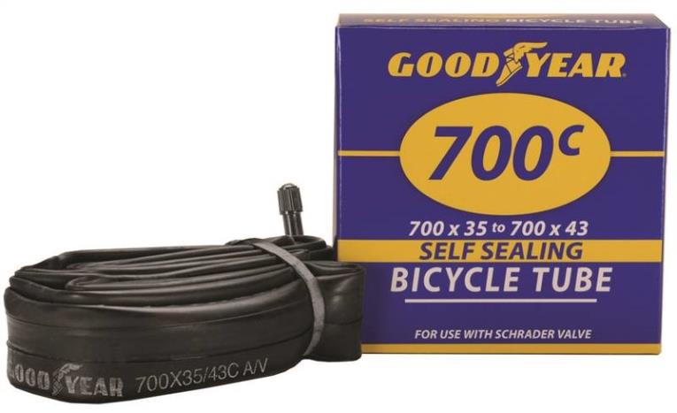 Goodyear 95203 Self-Sealing Bicycle Tube, For Use With 700c x 35 - 700c x 43 Width Bicycle Tires