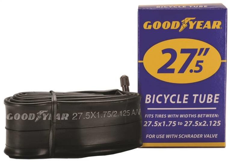 Goodyear 91083 Bicycle Tube, For Use With 27-1/2 in x 1-3/4 - 2-1/8 in Width Bicycle Tires, Black