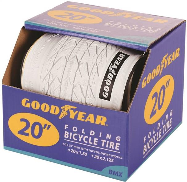 Goodyear 91056 Folding BMX Tire, For Use With 20 in x 1-1/2 - 2-1/8 in Rim, Black