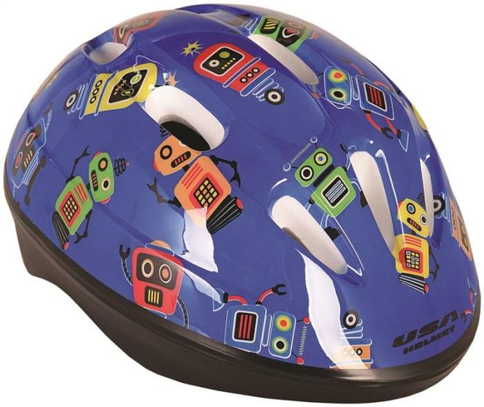 Kent 97520 Toddler Helmets, Blue with Robots