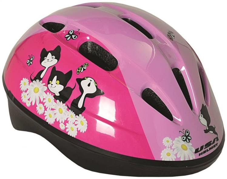 Kent 97521 Toddler Helmets, Pink with Kittens