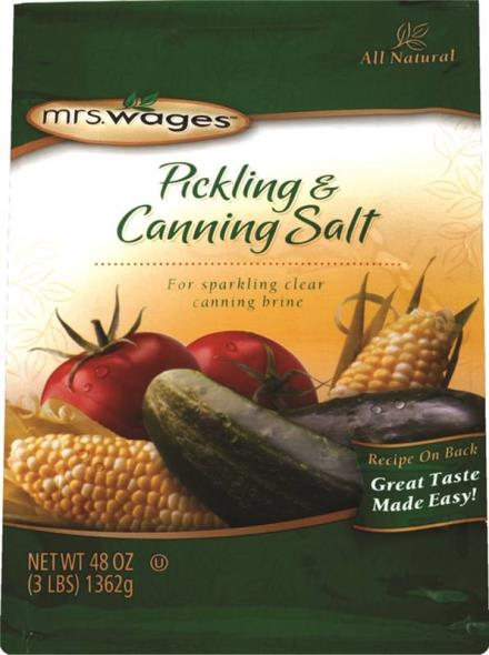 Mrs. Wages W510-B4425 Pickling and Canning Salt, 48 oz