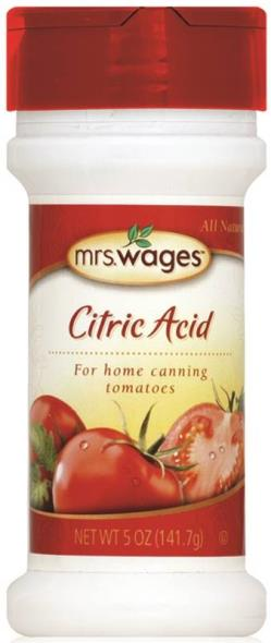 Mrs. Wages W590-J4425 Citric Acid, 5 oz Bottle