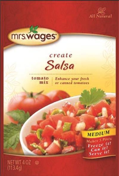 Mrs. Wages W536-J7425 Canning Salsa Tomato Mix, 4 oz