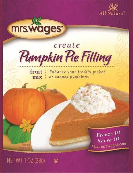 Mrs. Wages W805-J8425 Pumpkin Pie Filling, 1 oz Pouch