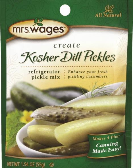 Mrs. Wages W626-DG425 Refrigerator Kosher Dill Pickle Mix, 1.94 oz Pouch