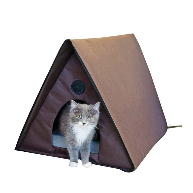 Outdoor Heated Kitty A-Frame