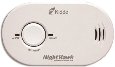 KIDDE NIGHTHAWK� BATTERY POWERED CARBON MONOXIDE DETECTOR, THREE AAA BATTERIES