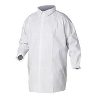 A40 Liquid and Particle Protection Lab Coats, Large, White, 30/Carton