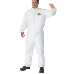 A30 Elastic Back and Cuff Hooded/Boots Coveralls, White, XL,25/Ctn