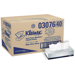 White Facial Tissue, 2-Ply, 125/Box
