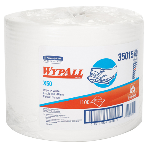 Kimberly Clark Wypall X50 Wipers - White, Roll, 1/Case [PRICE is per CASE] per CASE at Sears.com