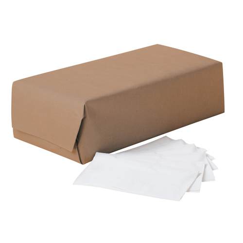 1/8-Fold Dinner Napkins, 2-Ply, 17 x 14 63/100, White, 300/Pack, 10 Packs/Carton