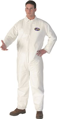KLEENGUARD* A40 LIQUID AND PARTICLE PROTECTION COVERALLS WITH HOOD AND BOOT, WHITE, EXTRA LARGE