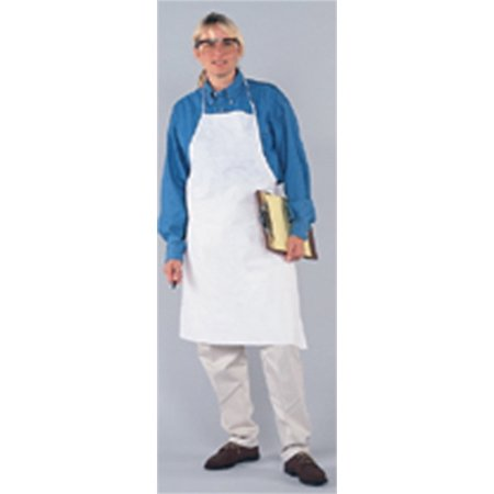 KLEENGUARD* A20 BREATHABLE PARTICLE PROTECTION APRON, TIES IN BACK, WHITE, 28X40 IN.