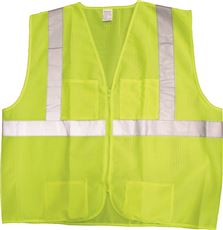JACKSON SAFETY* PREMIUM VEST, MESH LIME WITH SILVER REFLECTIVE, MEDIUM TO LARGE