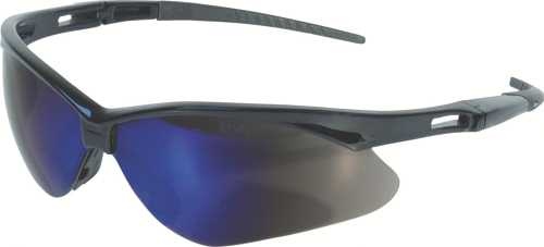 JACKSON SAFETY V30 NEMESIS SAFETY GLASSES, BLACK FRAME, BLUE MIRROR LENS