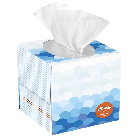 Anti-Viral Facial Tissue, 3-Ply, White, 60 Sheets/Box